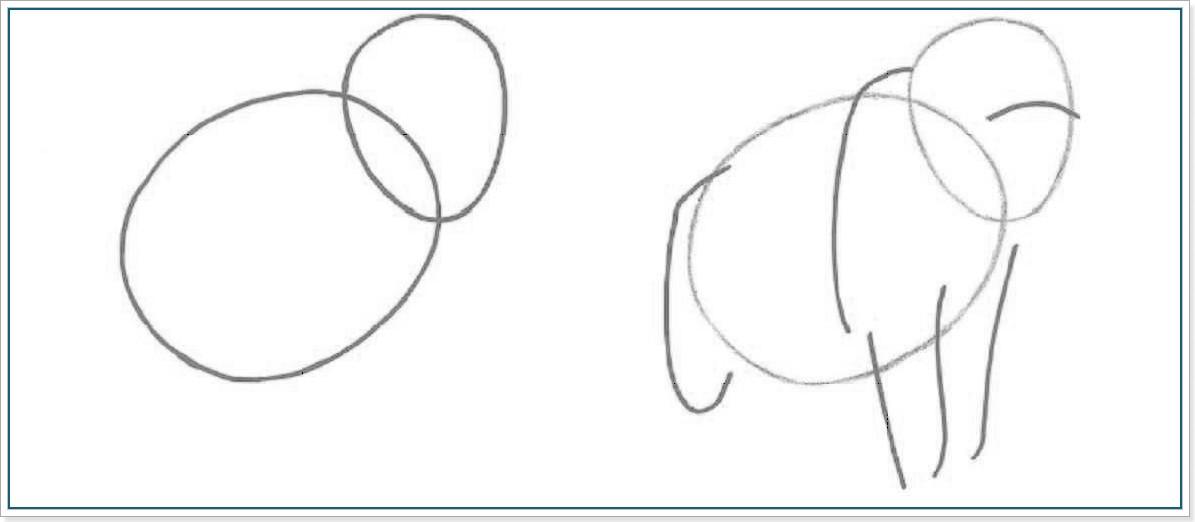 учимся рисовать мамонта
