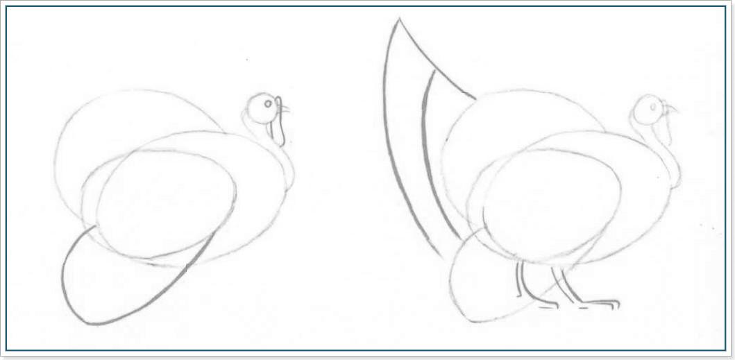 Урок рисования - как рисовать индюка