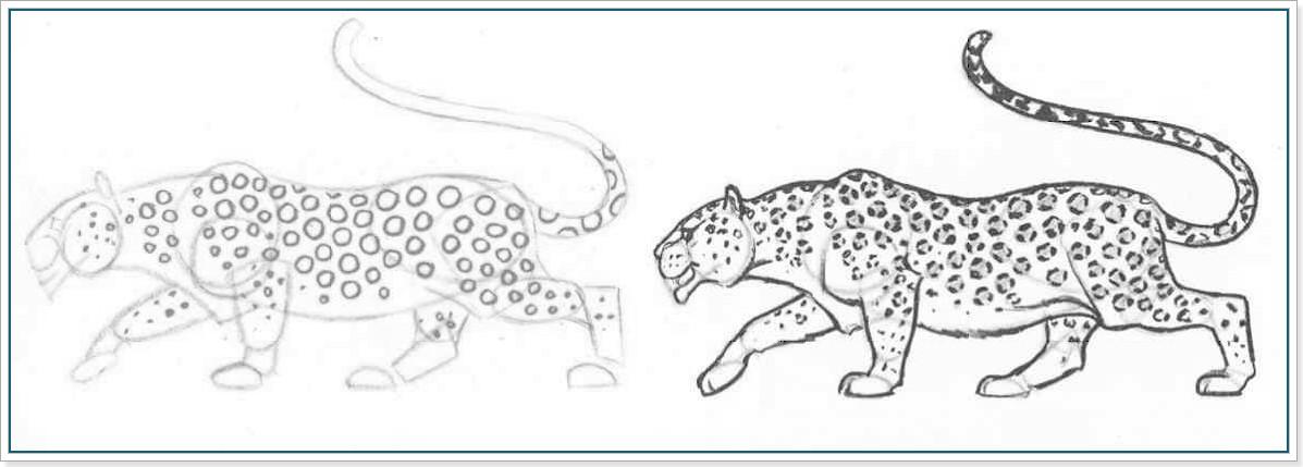 как карандашом нарисовать лерпарда поэтапно