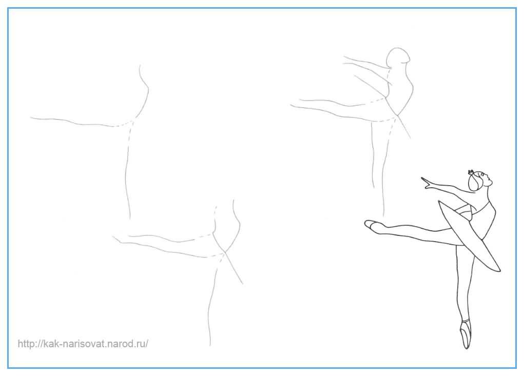 Как рисовать балерину - учимся рисовать балерину карандашом