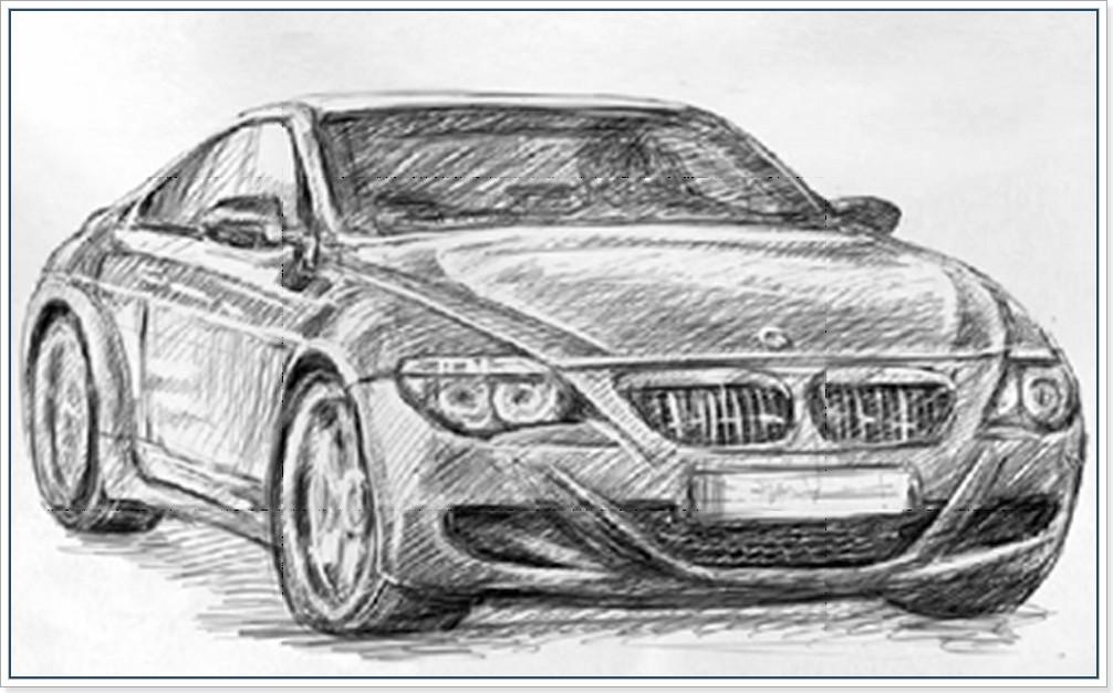 Как научится рисовать машину  БМВ