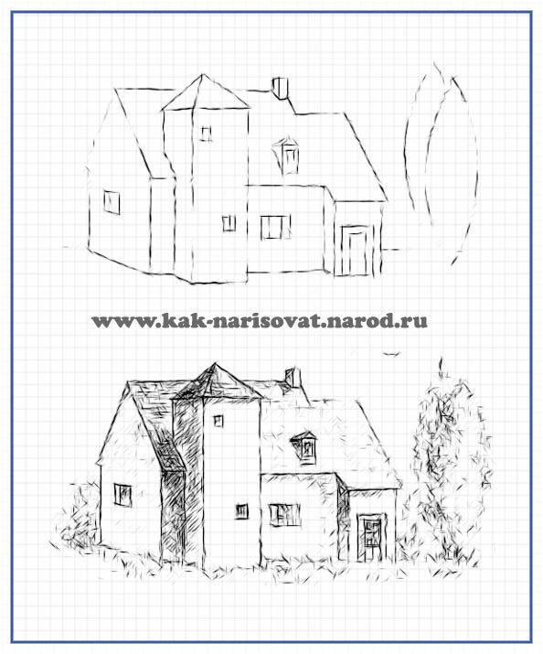 Рисуем дом