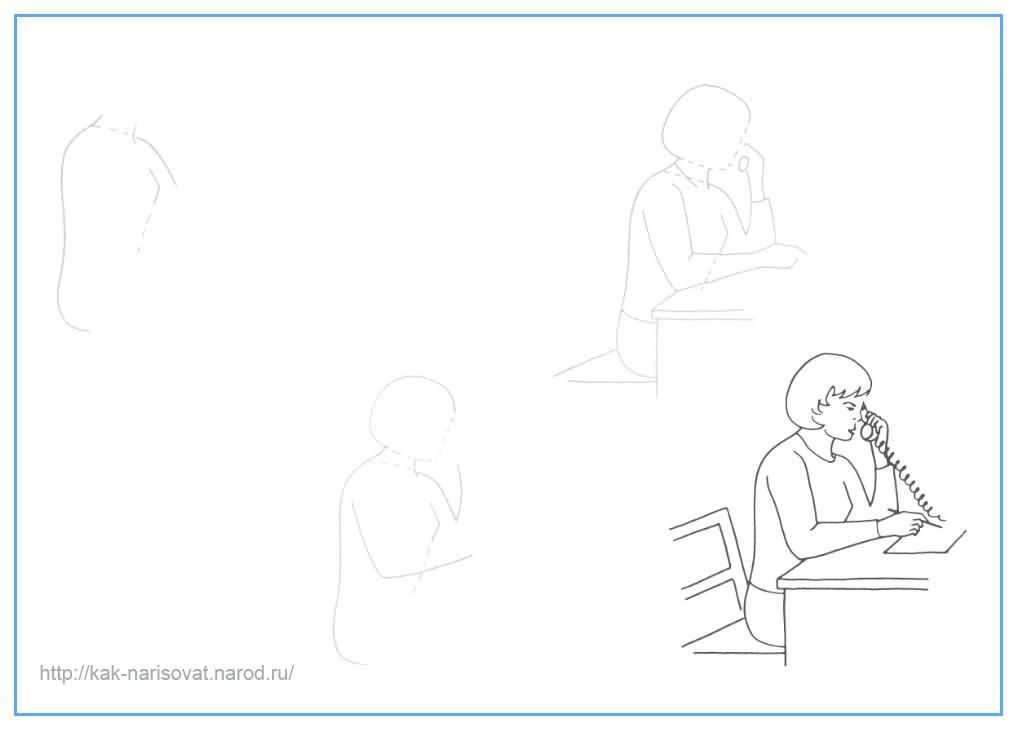 Как рисовать женщину - учимся рисовать женщину карандашом поэтапно