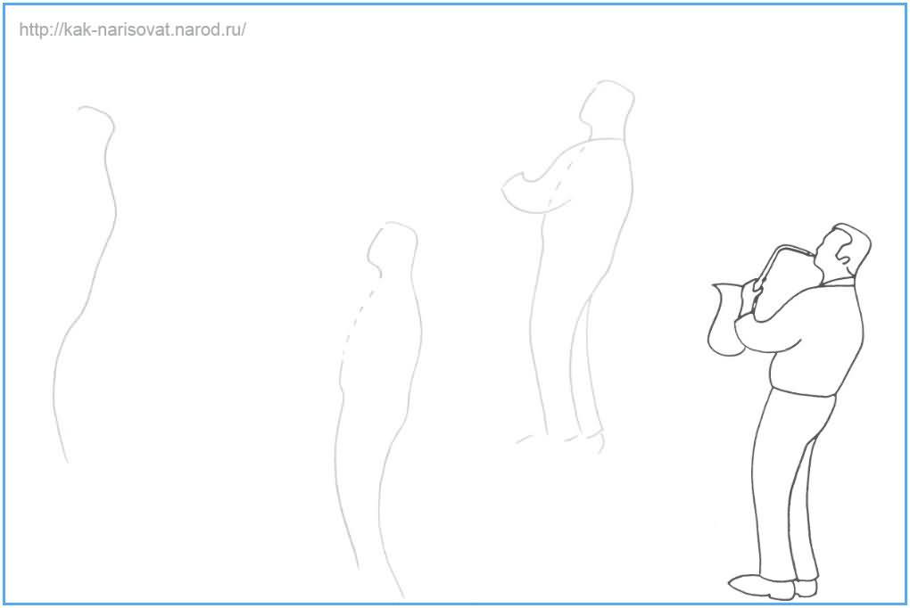 Как рисовать музыканта