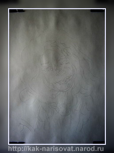 Рисование портрета с фотографии красками