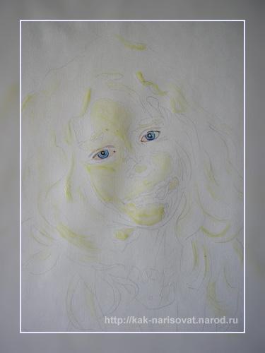 Как нарисовать поэтапно портрет девушки