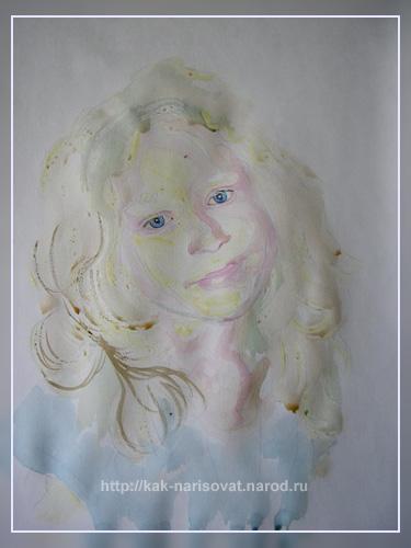 Как нарисовать портрет девушки с фотографии