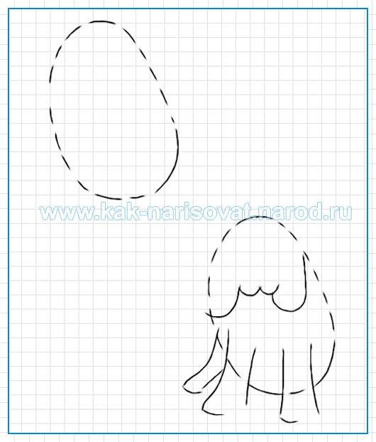 Как рисовать щенка карнадшом