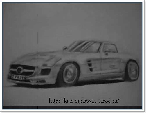 Как рисовать спортивную машину поэтапно