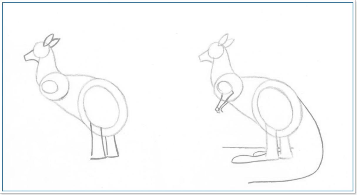 Рисуем кенгуру поэтапно