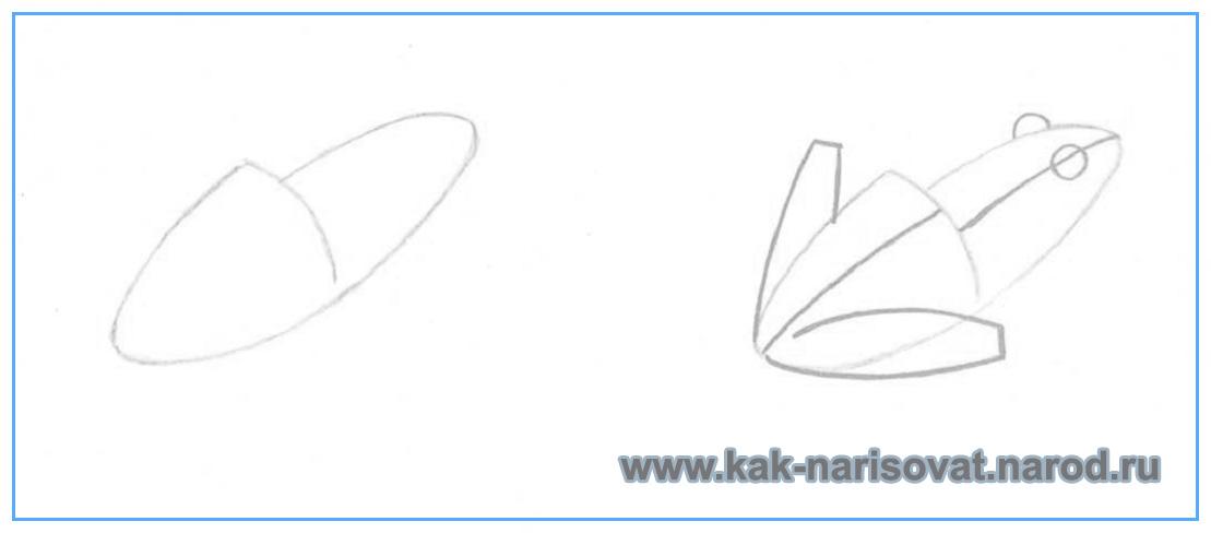 Как рисовать лягушку поэтапно
