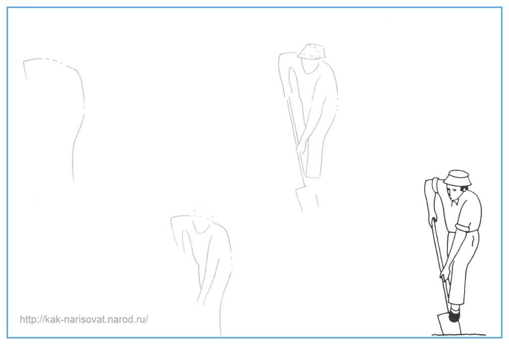 Учимся рисовать человека карандашом поэтапно