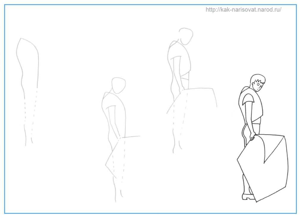 Как рисовать тореадора